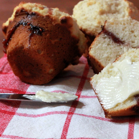 CookThatBook » Muffin Monday: Almond Raspberry-Pomegranate Muffins