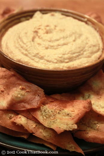 Toasted Whole Wheat Pita Chips & Homemade Hummus