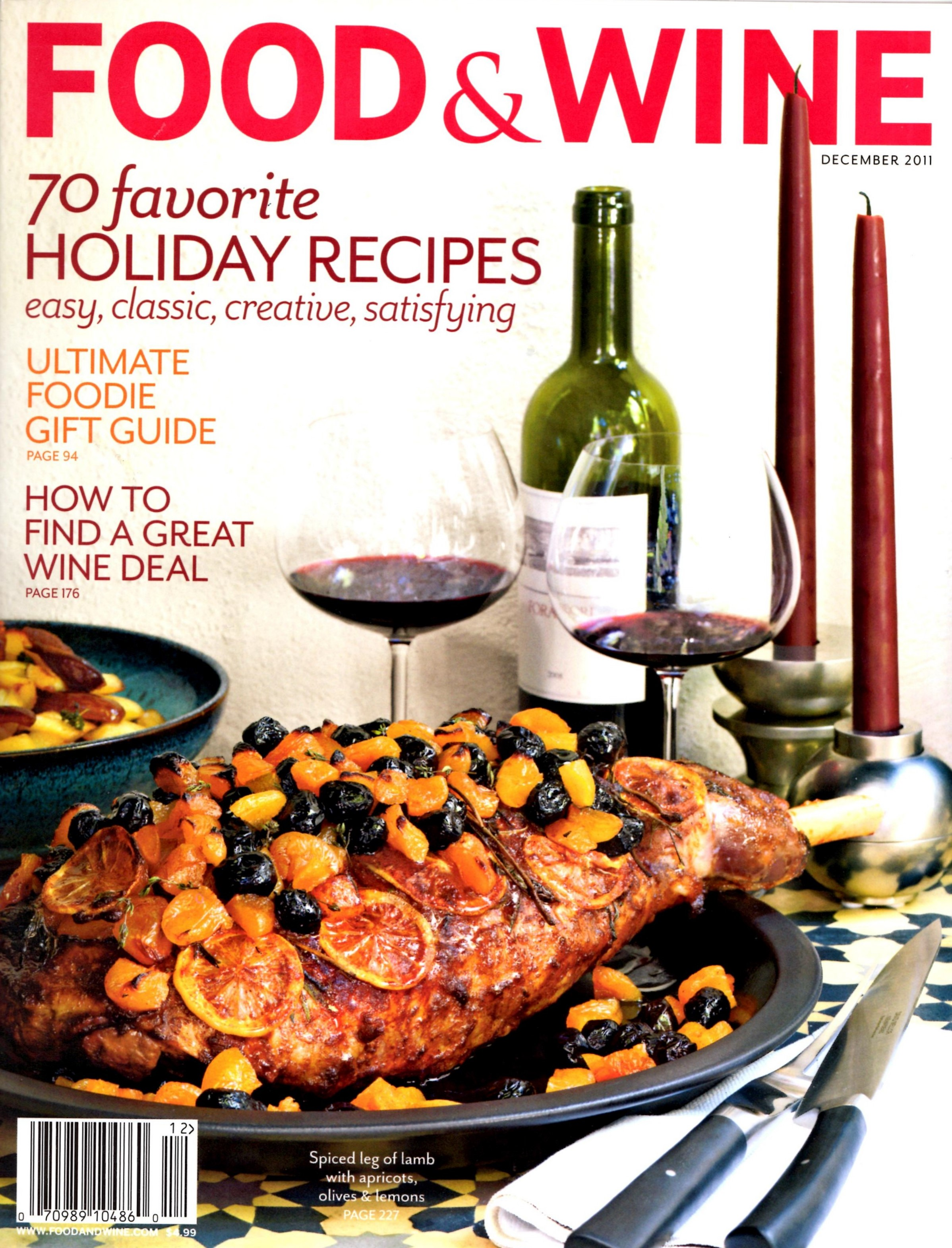 Cookthatbook food wine magazine december cover recipe isnt forumfinder Image collections