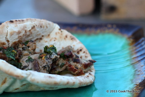 Spiedies wrapped in pita